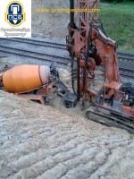 процесс бетонирования скважины бетоном, мостовой переход г. Алтыновка, промспецбуд, кузик виктор